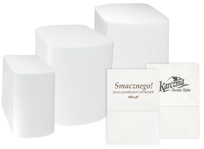 Paper napkins with LOGO